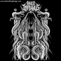 Ares-infernus-raw-black-metal-canada-front-tape-co by MOONRINGDESIGN