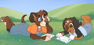 Drawing Together - Commission by strawberryneko33
