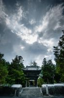 Soja Temple and Clouds by nathanspotts