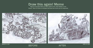 Draw This Again! Meme - The Bunny Army by SynergyCal