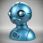 'Robust' robot bust design (model M7-001) by m7