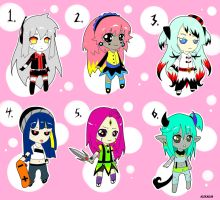 -Adoptables girls- set 1 OPEN name your price by AleKaiLin