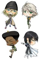 Chibi Gents of FFXIII by kagaminoir