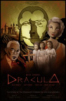 Dracula 1931 Poster by clementmeriguet