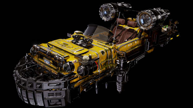 Moonspeeder with Rover by ArtDisclosure