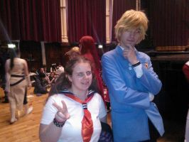 Me with Suoh Tamaki cosplayer :3 by OtakuRhi