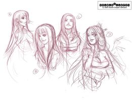 Avatea. Initial sketches. by DoubleCluepon