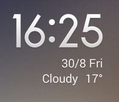 Simple Clock Mod with weather by Xiaomi-MIUI