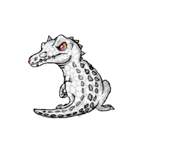 Rudy the Albino Baryonyx by Koala-Sam