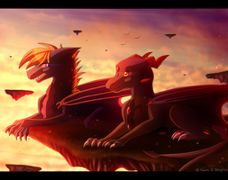 Everlasting Sunset - collab by Skaylina