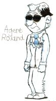 Agent Roland Character sketch by Nate-Spidgewood