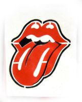 rolling stones tounge stencil by Satansgoalie