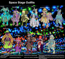 Spore Space Stage Outfits by PukingRainbow