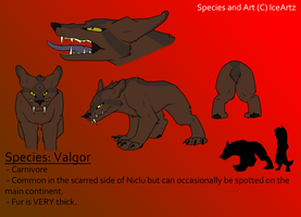 New Planet Niclu Species: Valgor by Ice-Artz