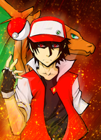 Trainer Red from Pokemon by mangaxai