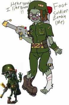 Foot Soldier Zombia (Old) by OmegaKaijuScorpioBat