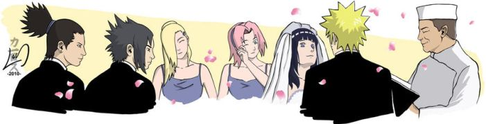 NaruHina Wedding by L--O--S
