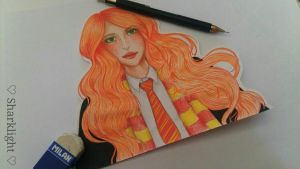 [HARRY POTTER]  Lily Evans by Sharklight-Express