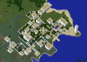 Minecraft: Manasia - White Town 7 by Denis-Manase
