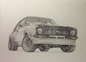 ford mk2 escort by G-REDNEK