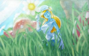 scratches 30a Smurfette Colour by renderstan
