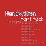 15 Handwritten Fonts - Font Pack by PandyCreations