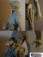 Vagabond Maquette Sculpt Views by piajartist
