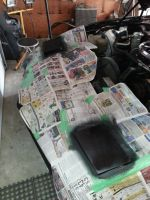 Headlight covers being prepped for paint 02 by sicklilmonky