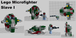 Lego Star Wars Microfighters - Slave I Concept by Azikira