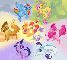 My Little Eeveelutions by Bedupolker