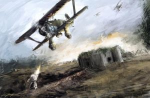 1938 borderlines under fire - Airplane attack by VitoSs