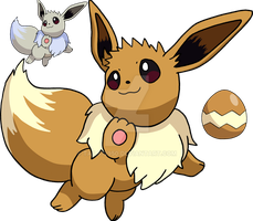 133 - Eevee - Art v.2 by Tails19950
