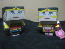Cubeecraft Wonder Woman by RatedrCarlos