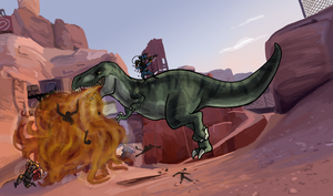 TF2: Alpha tames the Rex by ph00