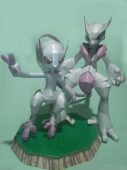 Mewtwo y and Mewtwo x by krstian0010