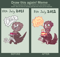 Draw It Again: Dont Give Him Cake! by Smushey