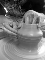 Pottery Being Thrown by GoldenSplash