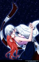 Air Gear: Rika and Kiric kiss by makiri