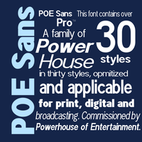 POE Sans Pro with 30 Styles by DLEDeviant