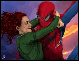 Spider-Man and Mary Jane by SpideyVille