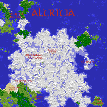Map of Altritia - Minecraft Multiplayer World Map by TheSharp0ne