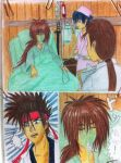 sanosuke going to hospital see kenshin by eve1789