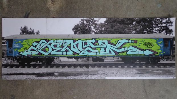 Molotow Train Poster Contest DEMYK by Canahadat