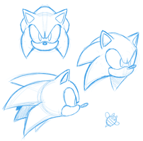 Sonic Face Practice by CatbeeCache