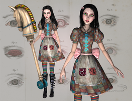 AliceDollDress, wip2, AliceDoll, wip 1 by tombraider4ever