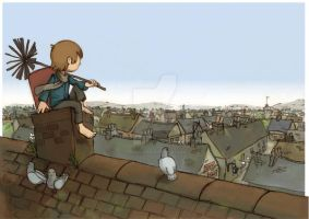 Rooftops by pencil-cute