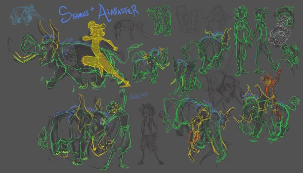 Quellamunga: Seamus and Alabaster by FablePaint
