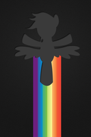 Soaring Rainbow Dash (iPhone Background) by NineCee