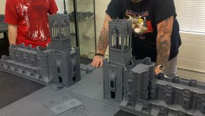 Warhammer 40k Fortress Wall by strikerwingblade