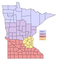 Minnesota Region Map by Minnesota